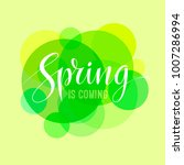 spring is coming card with... | Shutterstock .eps vector #1007286994
