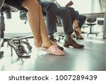home atmosphere in office.... | Shutterstock . vector #1007289439