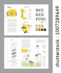 beekeeping honey vector... | Shutterstock .eps vector #1007289649