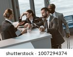 group of angry businesspeople...   Shutterstock . vector #1007294374