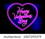 neon bright heart for valentine'... | Shutterstock . vector #1007295379