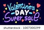 happy valentine's day super... | Shutterstock .eps vector #1007300299