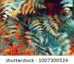 Fern Leaf Vibrant Digital...