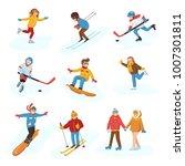 Winter Vector Sport Activity...