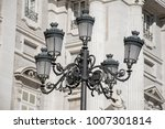 vintage streetlamps against a... | Shutterstock . vector #1007301814
