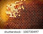 fresh honey in comb   Shutterstock . vector #100730497