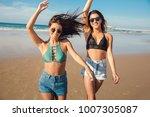 two beautiful female friends in ...   Shutterstock . vector #1007305087