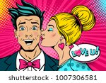 wow couple. happy young... | Shutterstock .eps vector #1007306581