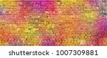 painted brick wall  abstract... | Shutterstock . vector #1007309881