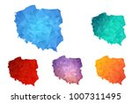 variety color polygon map on... | Shutterstock .eps vector #1007311495
