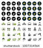 hotel icons set | Shutterstock .eps vector #1007314564