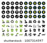 ecology icons set | Shutterstock .eps vector #1007314597