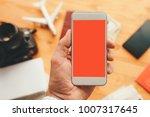 travel app for mobile phone... | Shutterstock . vector #1007317645
