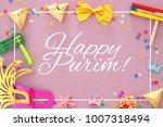 purim celebration concept ... | Shutterstock . vector #1007318494