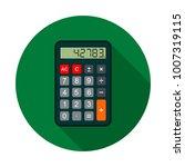 calculator icon  vector circle... | Shutterstock .eps vector #1007319115