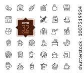 coffee maker  coffee house ... | Shutterstock .eps vector #1007319934