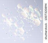 abstract hexagon background....   Shutterstock .eps vector #1007320894