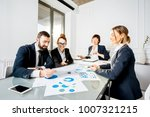 business people working with... | Shutterstock . vector #1007321215