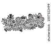floral pattern. vector... | Shutterstock .eps vector #1007322499