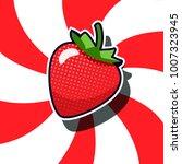 strawberry pop art cartoon...   Shutterstock .eps vector #1007323945