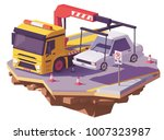vector low poly yellow tow... | Shutterstock .eps vector #1007323987