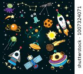 collection of space with space... | Shutterstock .eps vector #1007324071
