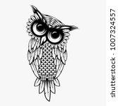 owl illustration logo vector ... | Shutterstock .eps vector #1007324557