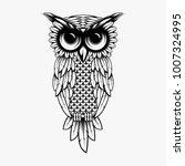 owl illustration logo  owl of... | Shutterstock .eps vector #1007324995