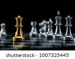 one  chess pieces staying... | Shutterstock . vector #1007325445