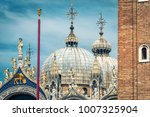 domes of st mark's basilica on... | Shutterstock . vector #1007325904