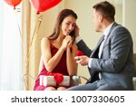 valentine's day concept. happy... | Shutterstock . vector #1007330605