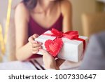 valentine's day concept. happy... | Shutterstock . vector #1007330647