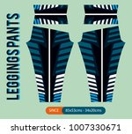 leggings patns fashion vector... | Shutterstock .eps vector #1007330671