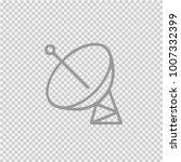 satellite simple isolated... | Shutterstock .eps vector #1007332399