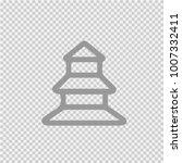 pagoda vector icon eps 10.... | Shutterstock .eps vector #1007332411