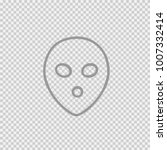 alien face simple isolated... | Shutterstock .eps vector #1007332414