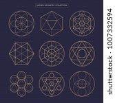 sacred geometry vector design... | Shutterstock .eps vector #1007332594