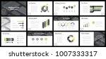 business presentation templates.... | Shutterstock .eps vector #1007333317