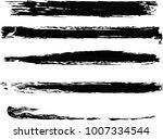 set of grunge brush strokes.  | Shutterstock .eps vector #1007334544