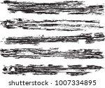 set of grunge brush strokes   | Shutterstock .eps vector #1007334895