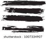 set of grunge brush strokes   | Shutterstock .eps vector #1007334907
