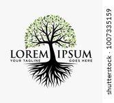 abstract vibrant tree logo... | Shutterstock .eps vector #1007335159