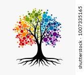 abstract vibrant tree logo... | Shutterstock .eps vector #1007335165