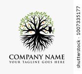 abstract vibrant tree logo... | Shutterstock .eps vector #1007335177