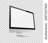 monitor for pc on transparent...   Shutterstock .eps vector #1007337565