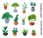 plants in flowerpots vector... | Shutterstock .eps vector #1007338441