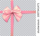 pink bow for packing gifts.... | Shutterstock .eps vector #1007341471