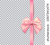 pink bow for packing gifts.... | Shutterstock .eps vector #1007341474