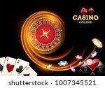 black fiery design casino... | Shutterstock .eps vector #1007345521