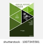 annual business report cover... | Shutterstock .eps vector #1007345581